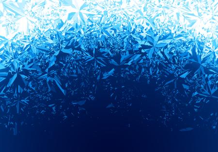 겨울 푸른 얼음 서리 배경 일러스트