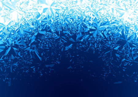 Winter blue ice frost background Illustration