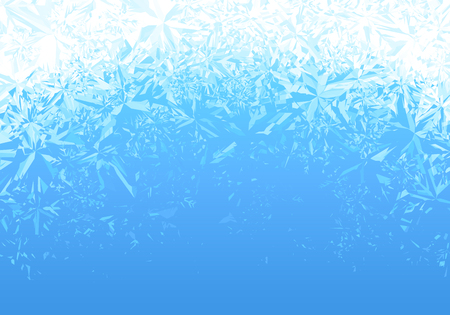 Winter blue ice frost background. Illustration