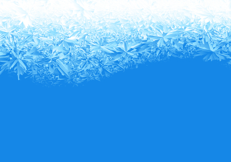 Winter blue ice frost background  イラスト・ベクター素材