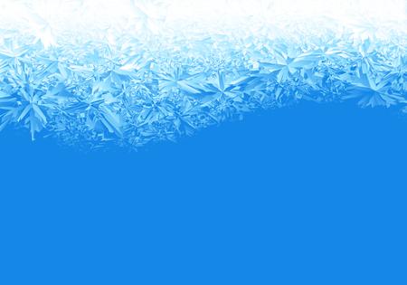 Winter blue ice frost background 일러스트