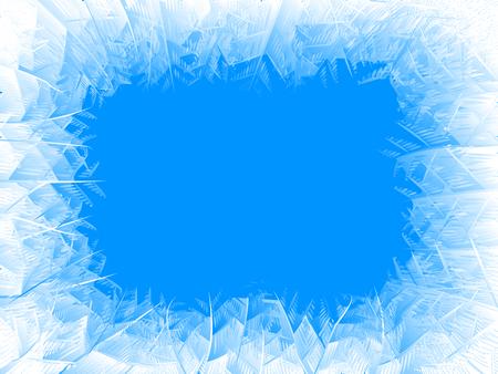 Cadre de gel de vecteur bleu