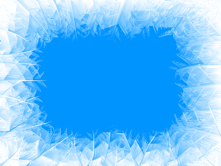 Vector blue frost frame