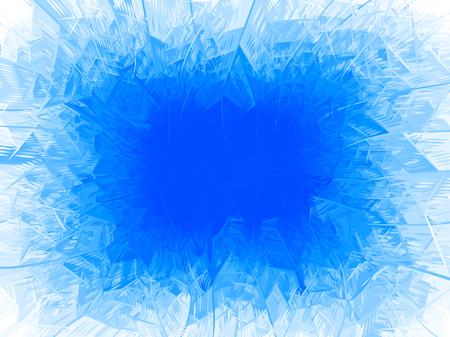 Vector blue frost frame.