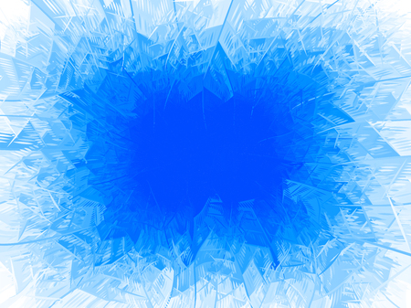 Vektorblauer Frostrahmen. Standard-Bild - 88854404