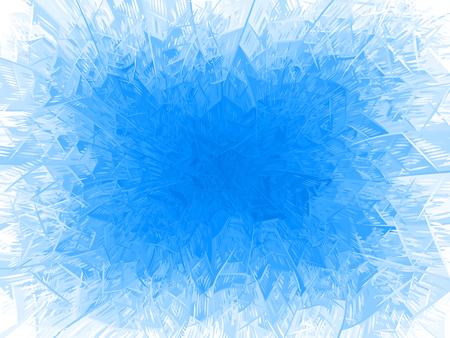 Vector blauer Frostrahmen. Eps8. RGB. Eine globale Farbe Standard-Bild - 88847961