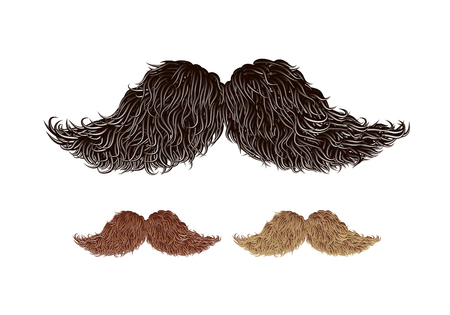 Vector old style mustache