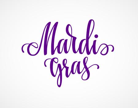 Mardi Gras lettering illustration.