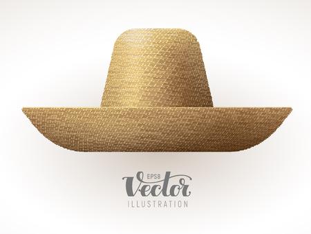 흰 배경에 고립 밀짚 모자