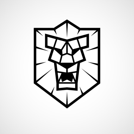 Lion head shield logo RGB Global colors
