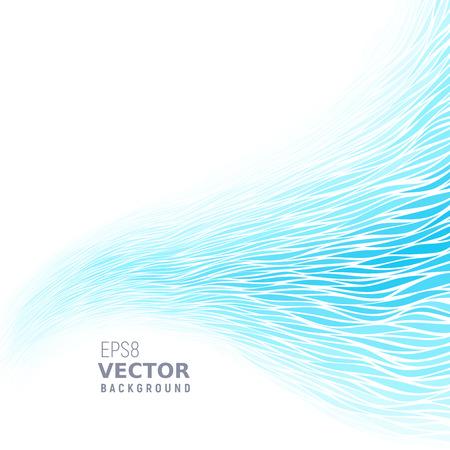 Blue waves image illustration