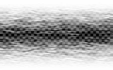 Transparent waves on checkered background Illusztráció