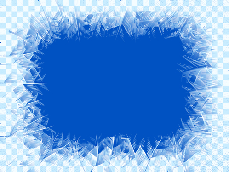 Vector transparent blue frost window