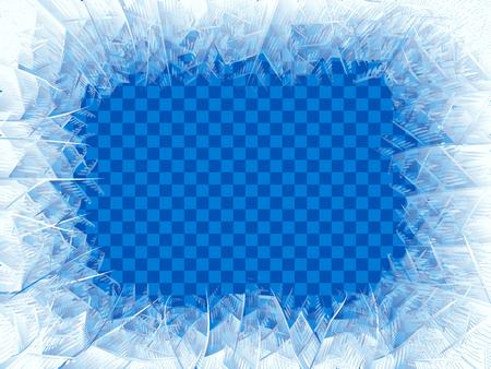 Vector transparent blue frost window