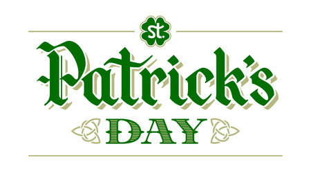 St. Patricks Day lettering on white background. Eps8. RGB. Global colors Illustration