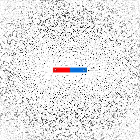 Vector magnetic field on white background Vektorové ilustrace