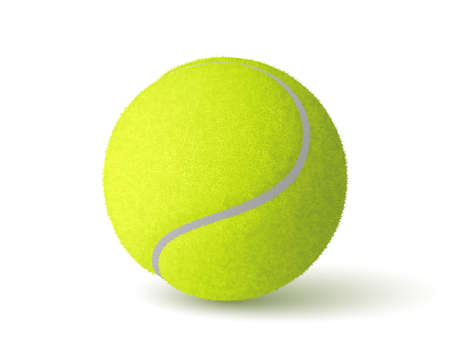 Vector realistic tennis ball isolated on white background 向量圖像