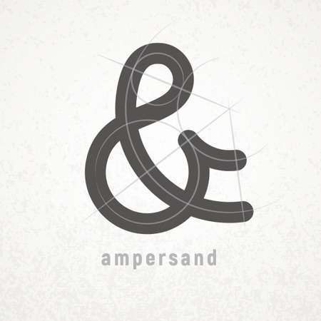 Ampersand. Elegant vector symbol on light background 向量圖像