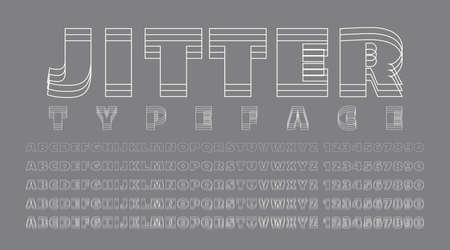 Alphabet and numbers with out of focus effect