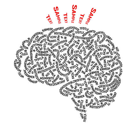 Human brain consists of disorderly interlacing string of random letters