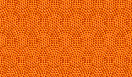 Orange basketball ball seamless dotted pattern. Vector background