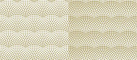 Fish scales seamless pattern. Vector monochrome illustration 向量圖像