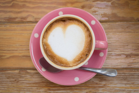 coffee in pink cup Banque d'images