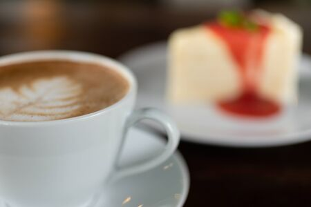 Coffee cup with Cake , image use for charge your energy in the morning