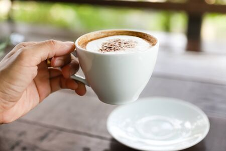 Coffee cup in the morning for charge your energy, image use for food and beverage business concept
