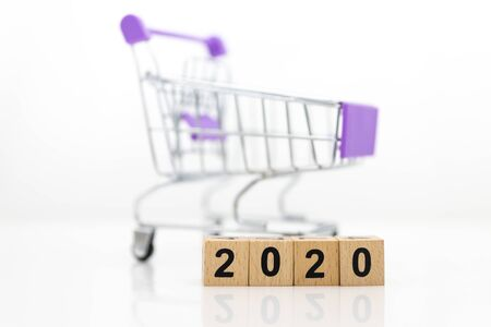Shopping cart, image use for shopping product online or store for urge the social economy, business concept Stockfoto