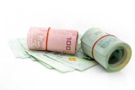 Thai economic stability, The rhythm of market share contention, image use for risk, money, business concept Stock Photo