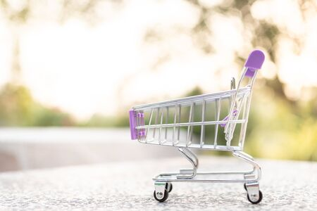 Shopping Cart , image use for retail business online for support of customer on internet, marketing business concept.