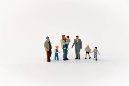 Miniature family using as background International day of families concept.