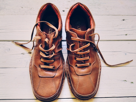 men's: Brown leather mens shoes