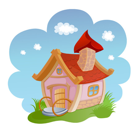 comely: little fairy house with a tiled roof Illustration