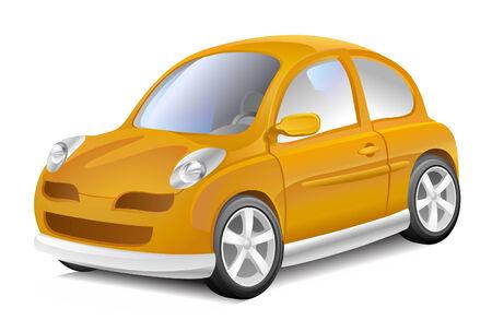 yellow car: Small yellow car
