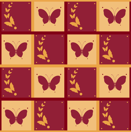invented: Abstract silhouettes invented decorative butterflies. They are created to decorate