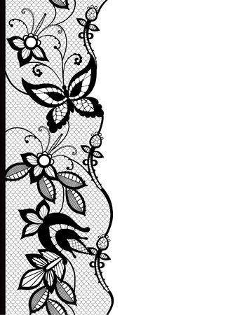 Abstract silhouettes invented decorative butterflies. These butterflies and flowers are reminiscent of lace, they are created to decorate Vector