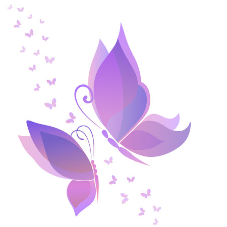 butterflies flying: Silueta abstracta inventado mariposa decorativa. Está diseñado para decorar Vectores