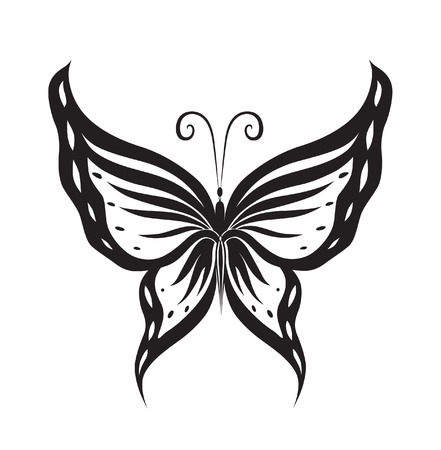 Abstract silhouette invented decorative butterfly. Reminiscent of lace, it is designed to decorate Vector