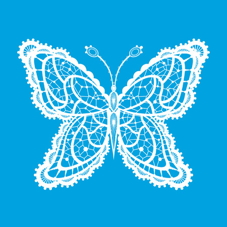 cartoon butterfly: Abstract silhouette invented decorative butterfly. It is designed to decorate. This is reminiscent of lace