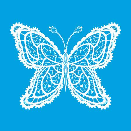 cartoon mariposa: Silueta abstracta inventado mariposa decorativa. Est� dise�ado para decorar. Esto es una reminiscencia de encaje Vectores