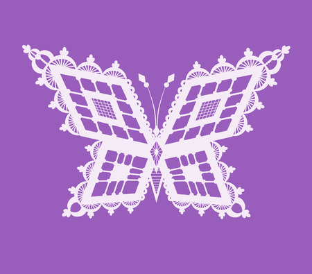 reminiscent: Abstract silhouette invented decorative butterfly. It is designed to decorate. This is reminiscent of lace