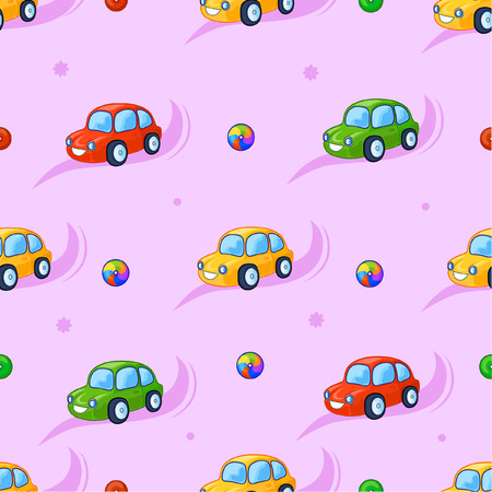adorn: Funny fabulous cars adorn the background is this. These toys for children to play and fun