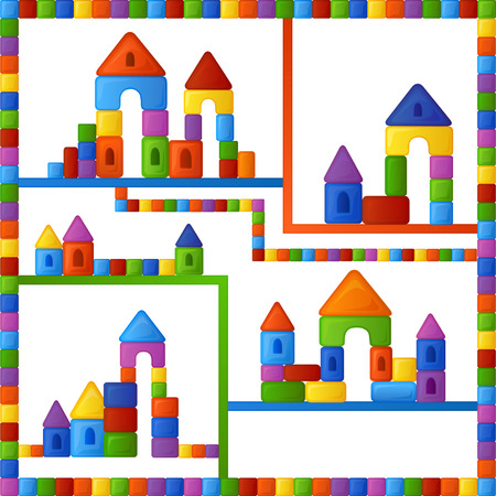 fairyland: Bright multi-colored background is from the fun and different combinations of elements of childrens building kit