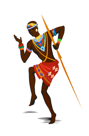 traditional culture: Free dance exotic men. Ritual absorbs the whole person and enters into a trance. Unity with nature and life around him, reveals its beauty and brings into his life a holiday