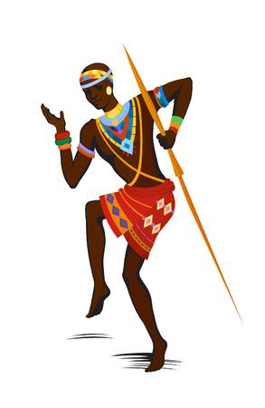 baile afro: Hombres ex�ticos de danza libre. Ritual absorbe toda la persona y entra en trance. La unidad con la naturaleza y la vida a su alrededor, revela su belleza y trae a su vida un d�a de fiesta Vectores