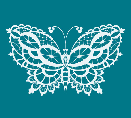 Abstract silhouette invented decorative butterfly. It is designed to decorate. This is reminiscent of lace