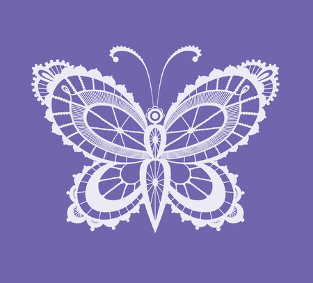 Abstract silhouette invented decorative butterfly. It is designed to decorate. This is reminiscent of lace Vector