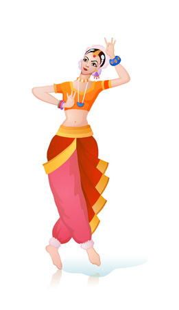 india dance: Girl from India takes in dance pose plastic figurines